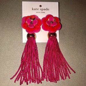 NWT Rosy Posies Tassel Earrings